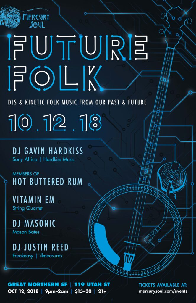 Future Folk poster - design by Nicole Vernet